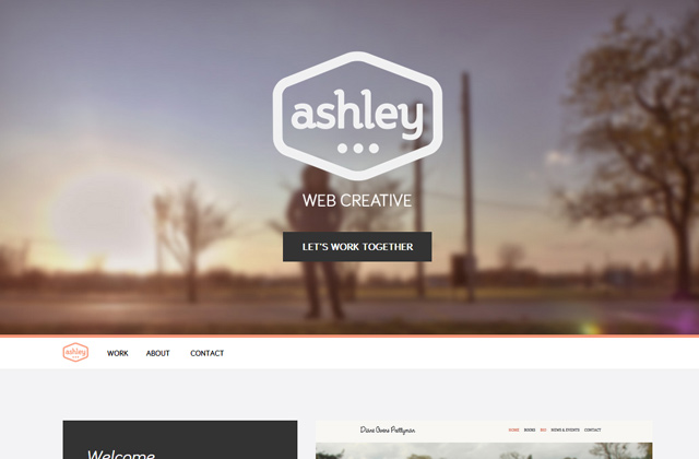 ashley farrand website portfolio layout flat
