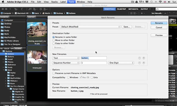 Automate tasks tutorial for Adobe Photoshop