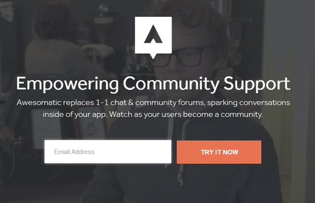 enpowering community support awesomatic homepage startup