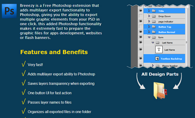 breeezy photoshop plugin extension multilayer