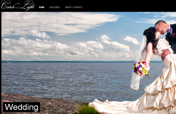 catch light photography website layout