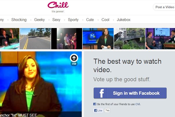 Chill.com social media networking website