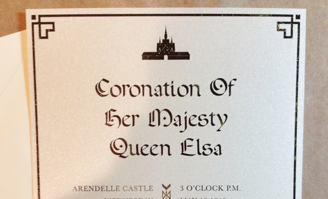 coronation crowning ceremony invitation print work