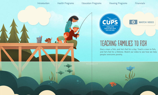cups annual report vector graphics header