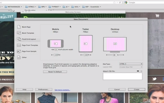 video adobe help dreamweaver cs6 responsive tutorial