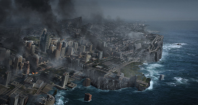 earth disaster scene photoshop