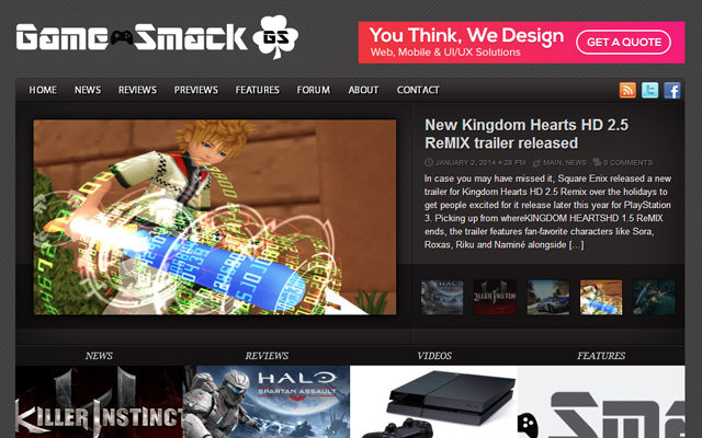 game smack ireland inspiring website design layout