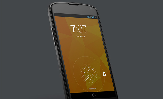 google nexus 4 android device mockup