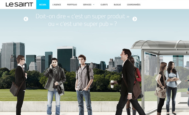 ke saint french marketing website layout