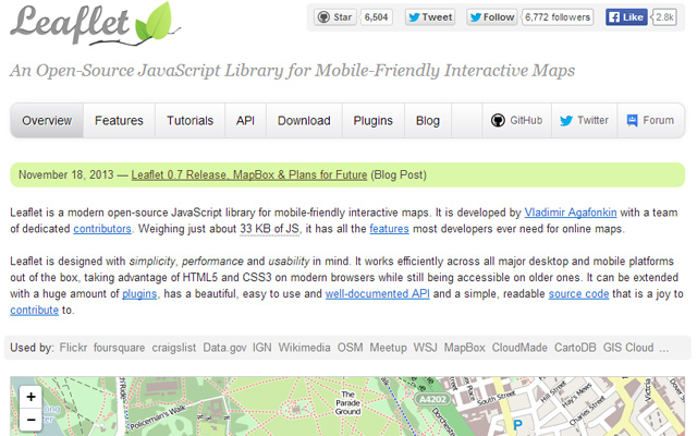 leaflet js javascript library mobile interactive maps