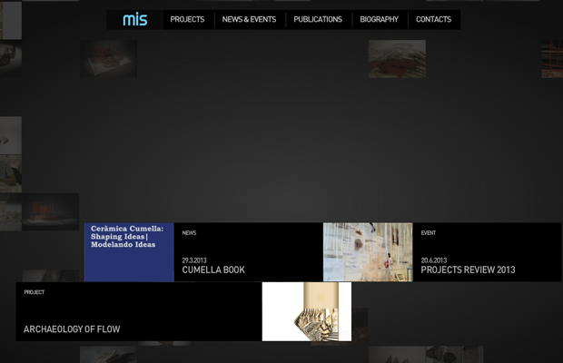 mis architecture flash website layout