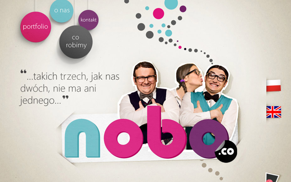 No-Bo Digital Interactive agency website layout