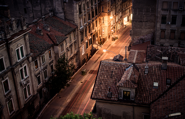 streets croatia at night photo desktop wallpaper