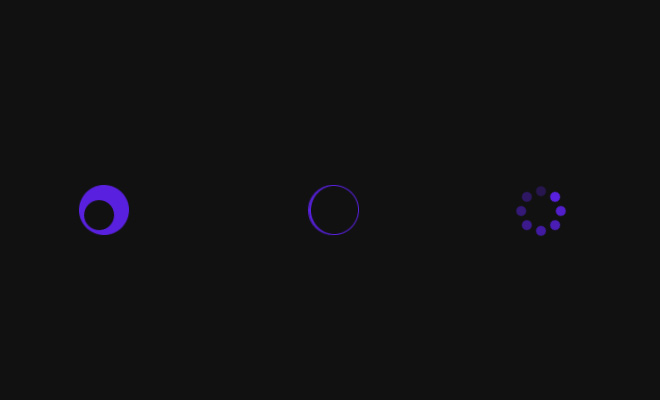 spinning loaders effect animation