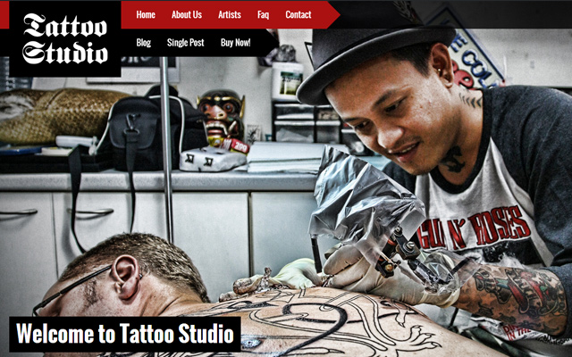 fullscreen parallax animated html5 template studio tattoos