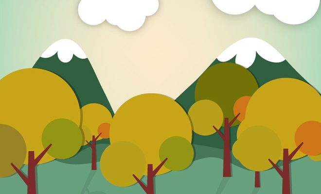 tree forest vector art