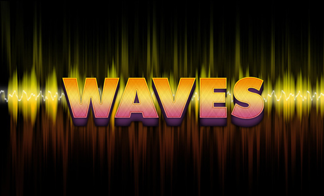 waves vibrating text effect tutorial