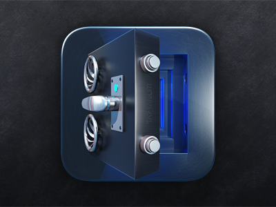 Chrome Metallic safe icon design