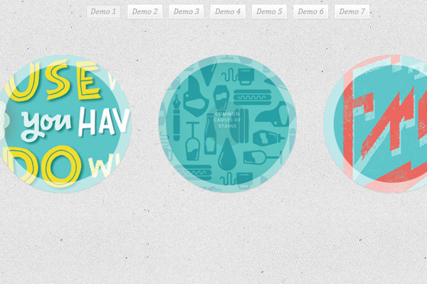 circle web design hover effects transitions