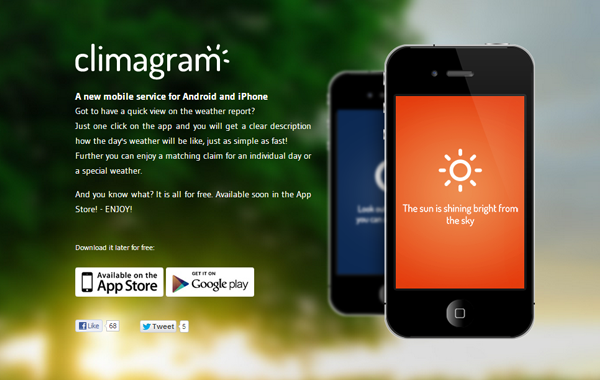 ios climagram mobile app iphone deisgns