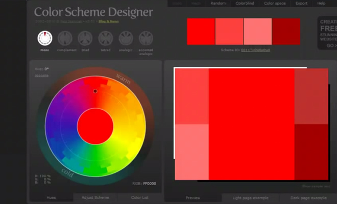 howto use color scheme designer webapp tutorial video