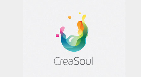 abstract logo creasoul inspiring design
