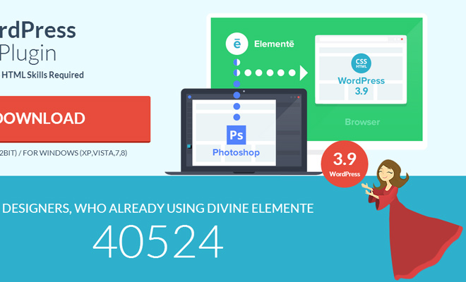 divine elemente project wordpress photoshop plugin