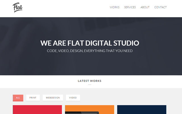 html5 single page entertainment creative studio website layout