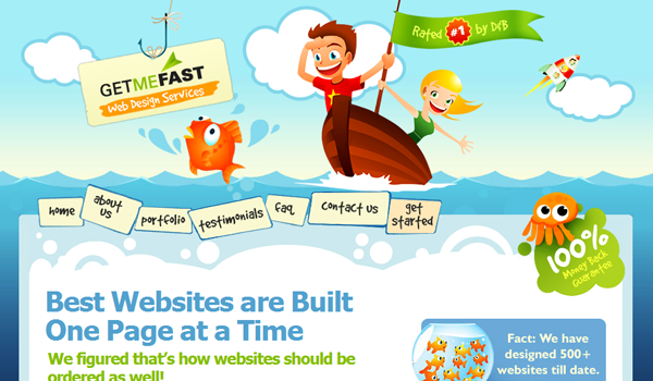 get me fast web design services