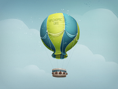 hot air balloon illustration design