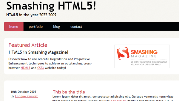 Building an HTML5 web development layout