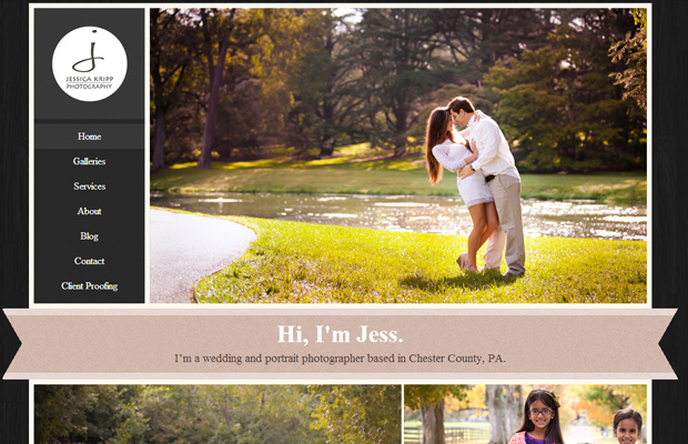jessica kripp photography portfolio layout