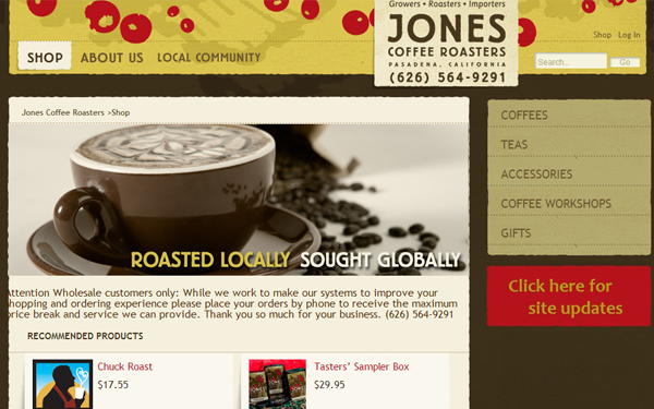 roasters coffee designs inspiration layouts