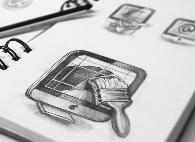 mac app icon sketches design inspiration drawing