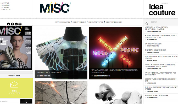 misc magazine website blog design