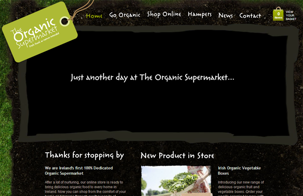 green organic supermarket sales website layout
