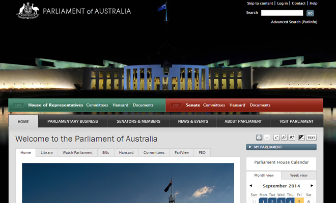 government parliament of australia