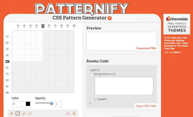 patternify css pattern graphics generator