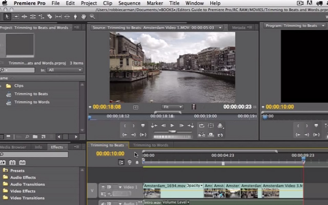 premiere pro cs5.5 tutorial beats words trimming videos