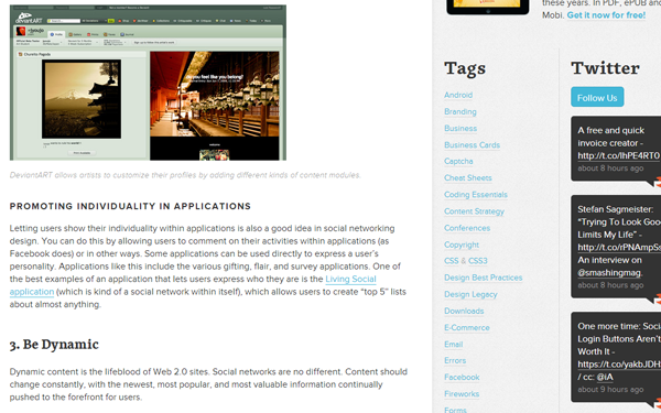 social media networking web design layouts