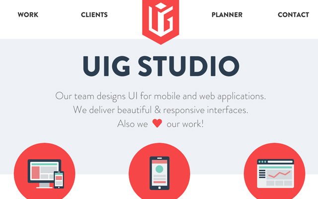 uig studio website flat icons design