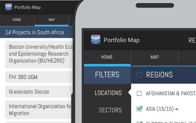 usaid android app ui design dribbble