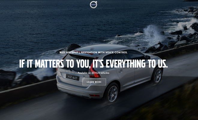 volvo car company website homepage