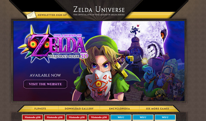 Landing Page Designs For Console Mobile Games - Game design websites