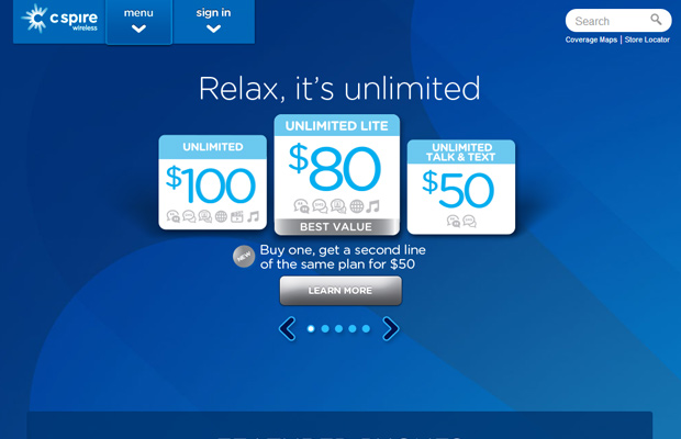 cspire c spire wireless blue website