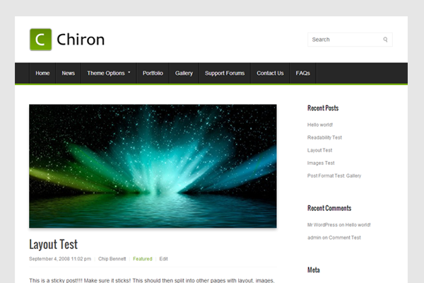 chiron free wordpress download theme