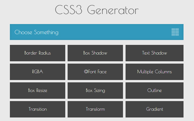css3 generator code webapp open source