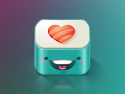 cute sushi smiling iOS app icon
