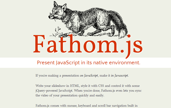 Fathom.js slideshow jquery plugin javascript open source
