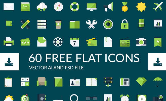simple flat green icons 60 iconset
